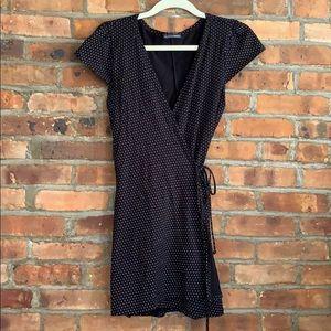 Black Wrap Mini Dress - Brandy Melville